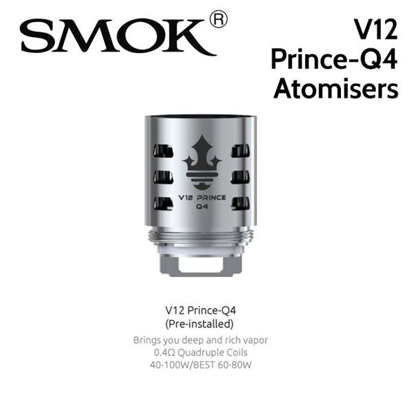 3 pack - SMOK V12 Prince-Q4 0.4ohm quad core atomisers