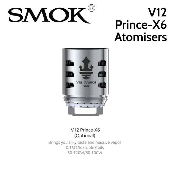 3 pack - SMOK V12 Prince-X6 0.15ohm sextuple core atomisers