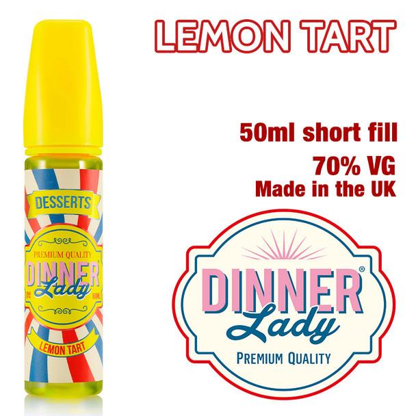 Lemon Tart - Dinner Lady e-liquids - 70% VG - 50ml