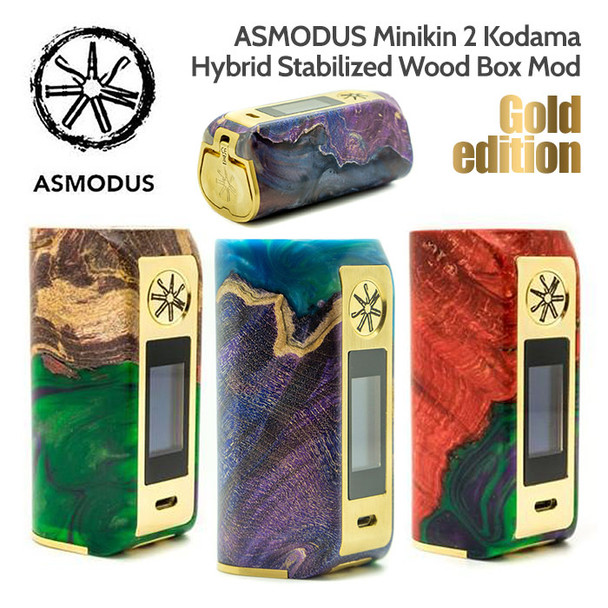 ASMODUS Gold Edition Minikin 2 Kodama 180w Hybrid Stabilized Wood Box Mod