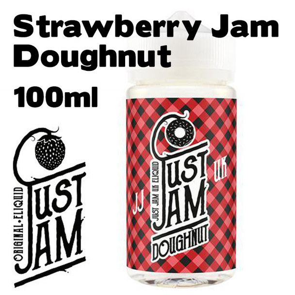 Strawberry Jam Doughnut - Just Jam e-liquid - 80% VG - 100ml