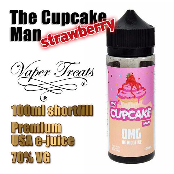 The Strawberry Cupcake Man - Vaper Treats e-liquid by Ruthless - 70% VG - 100ml