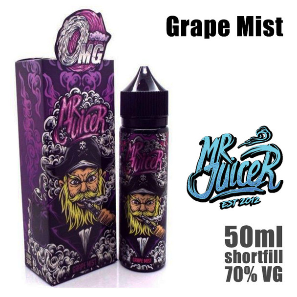 Grape Mist - Mr Juicer e-liquid - 70% VG - 50ml