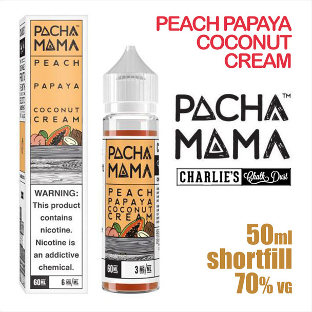 Peach Papaya Coconut Cream - PACHA MAMA eliquids - 50ml
