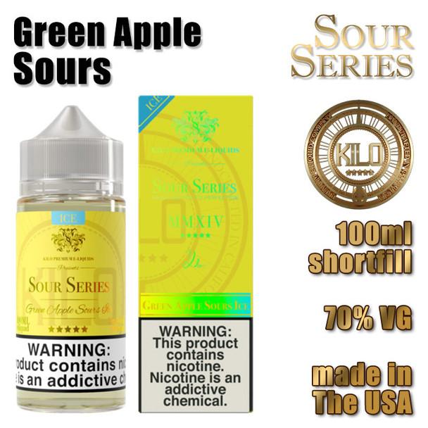 Green Apple Sours - KILO e-liquids - 100ml