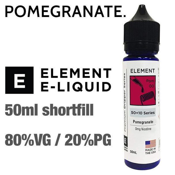Pomegranate - ELEMENT e-liquid - 80% VG - 50ml
