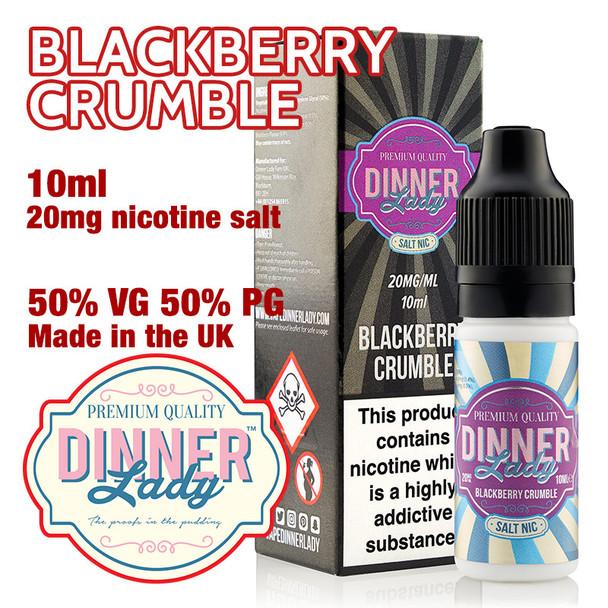 Blackberry Crumble – Dinner Lady Salt Nic e-liquids – 50% VG – 10ml - 20mg nicotine