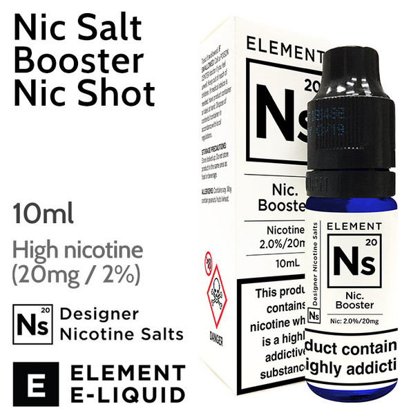10ml unflavoured ELEMENT Nic Salt Booster 20mg Nic Shot