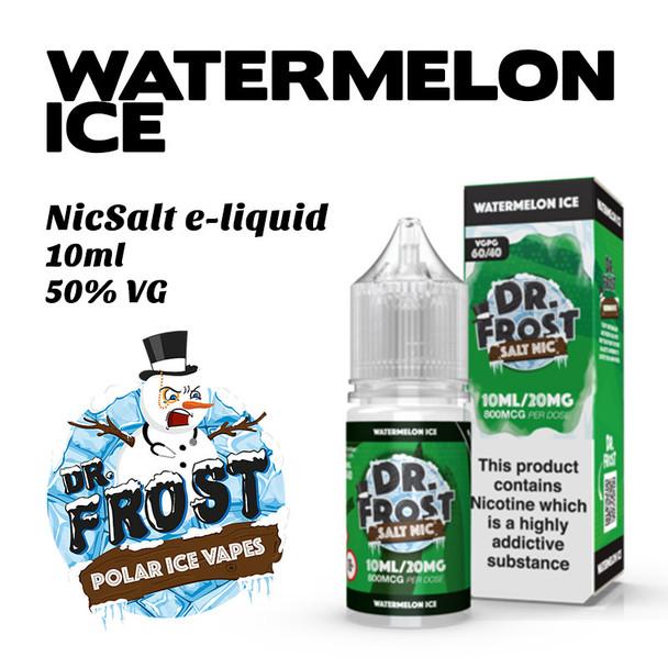 Watermelon Ice – Dr Frost NicSalt e-liquid 10ml