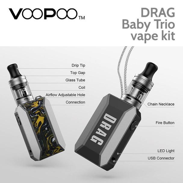 VooPoo Drag Baby Trio vape kit
