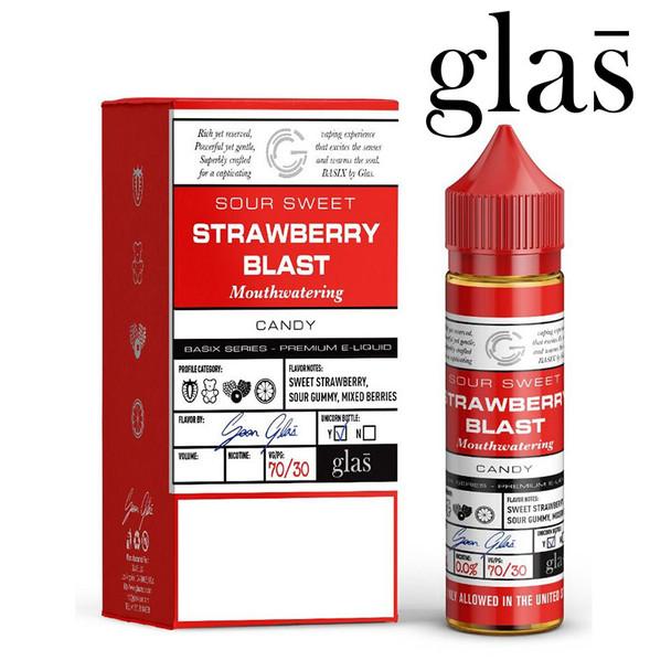 Strawberry Blast - Glas e-liquids - 70% VG - 50ml