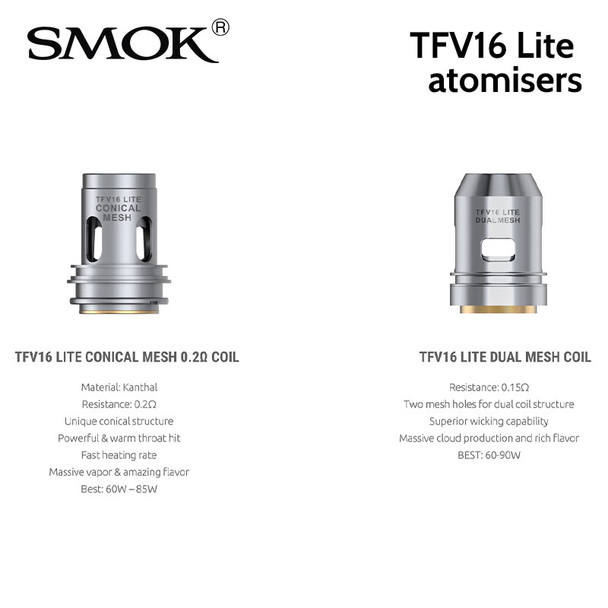 3 x SMOK TFV16 Lite atomisers