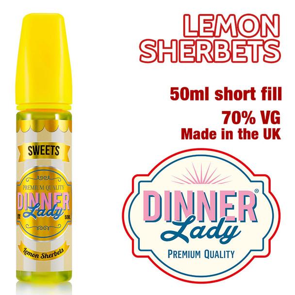 Lemon Sherbets e-liquid by Dinner Lady – 70% VG – 50ml