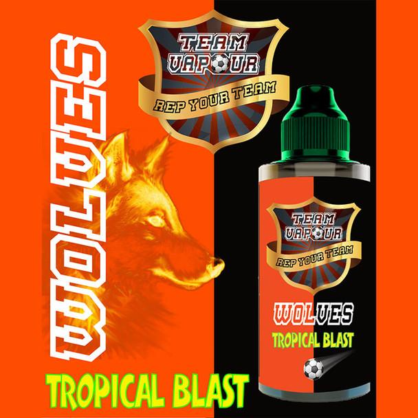 Wolves Tropical Blast – Team Vapour e-liquid – 70% VG – 100ml