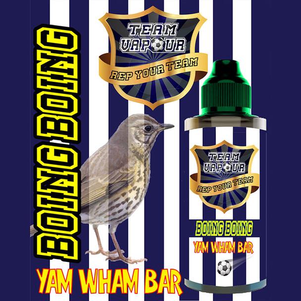Boing Boing Yam Wham Bar – Team Vapour e-liquid – 70% VG – 100ml