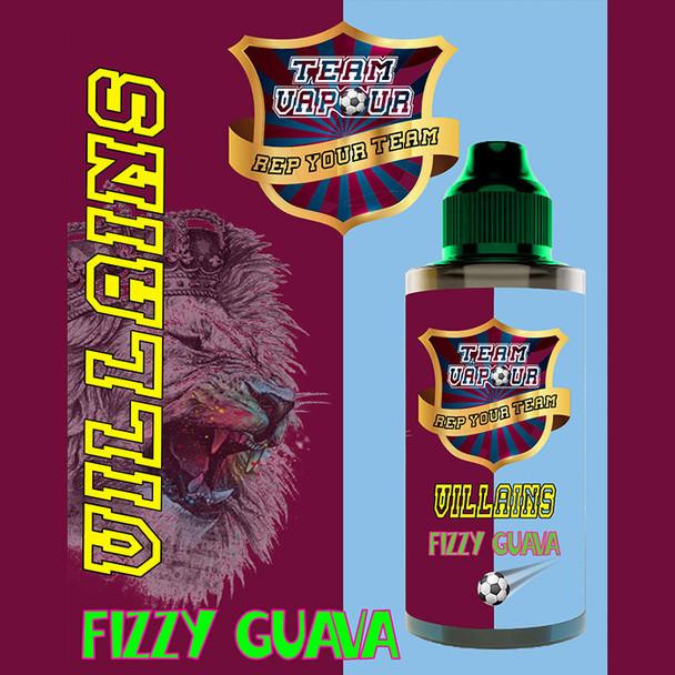 Villians Fizzy Guava – Team Vapour e-liquid – 70% VG – 100ml