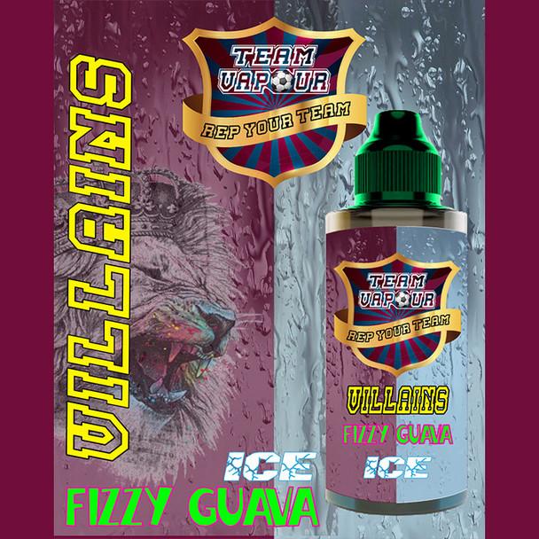 Villians Fizzy Guava Ice - Team Vapour e-liquid – 70% VG – 100ml