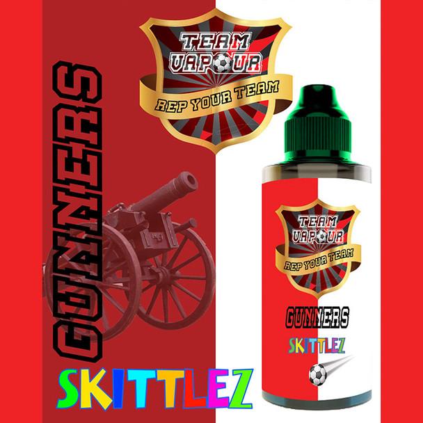 Gunners Skittlez – Team Vapour e-liquid – 70% VG – 100ml