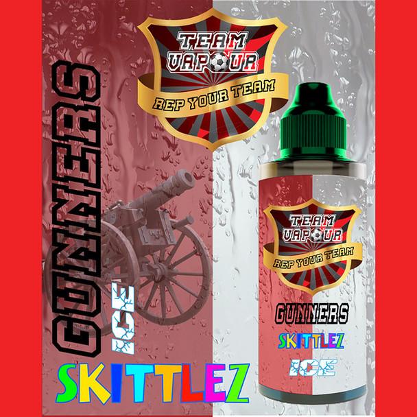 Gunners Skittlez Ice - Team Vapour e-liquid – 70% VG – 100ml