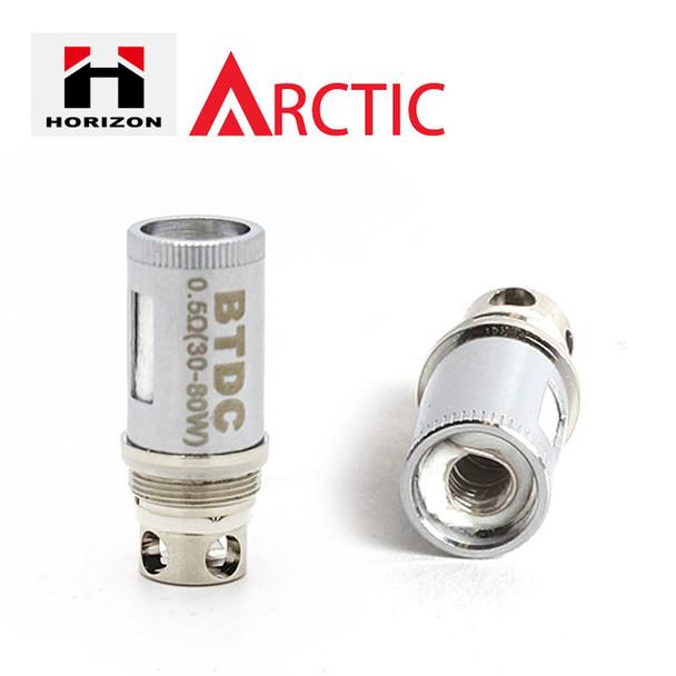5 Pack - Horizon Arctic Atomisers - Bottom Turbine Duel Coil BTDC and BTC