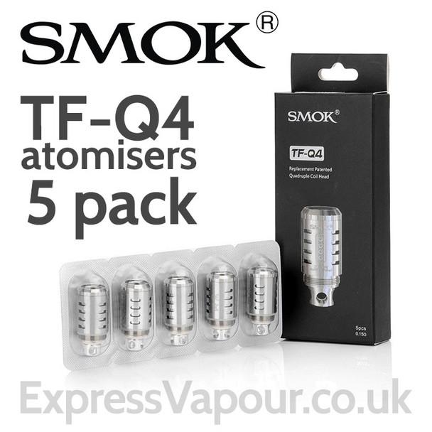 5 Pack - SMOK TF-Q4 Quadruple Coil 0.15 Ohm Atomisers