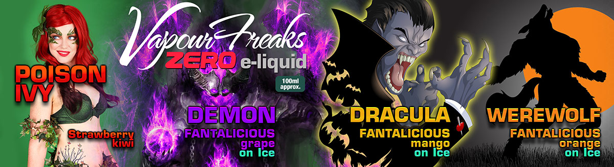 Vapour Freaks e-liquids UK 100ml bottles
