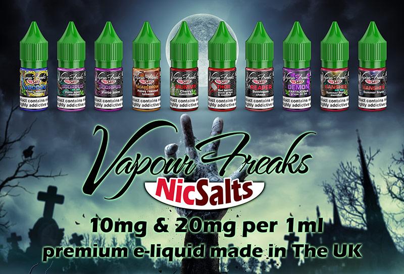 Vapour Freaks NicSalts e-liquids
