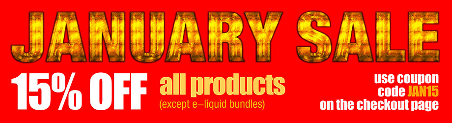 eliquids sale january 2019
