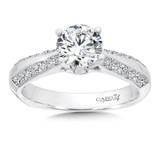 14k White Gold Channel and Prong Set Diamond Engagement Ring 1.0ctw