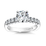 Classic Elegance Collection Diamond Engagement Ring With Side Stones in 14K White Gold and Platinum Head (1-1/4ct. tw.)