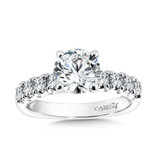 Classic Elegance Collection Diamond Engagement Ring With Side Stones in 14K White Gold with Platinum Head (1-1/2ct. tw.)