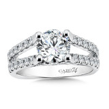 Classic Elegance Collection Diamond Split Shank Engagement Ring in 14K White Gold (1-1/2ct. tw.)