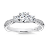 Classic Elegance Three-Stone Engagement Ring in 14K White Gold with Platinum Head (1/2ct. tw.)