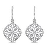 14k White Gold Delicato Diamond Earrings