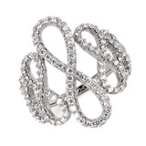 14k White Gold Diamond Infinity Fashion Ring