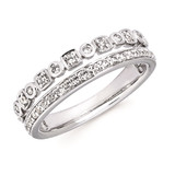 14k White Gold Stackable Diamond Rings