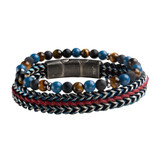 3 Variations of Natural Stone Beads and Allegiance Stackable Bracelets