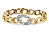 14kt Two Tone White and Yellow Gold DIAMONDmond Bracelet set with 1.22ctw DIAMONDmonds of SI clarity and G color