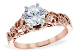 14KT Gold LADIES SEMI-MOUNT ENGAGEMENT DIAMOND RING .06 TW - HOLDS A  1.00 CENTER STONE14KT Gold