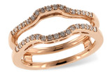 14KT Gold GUARD RING .28 TW14KT Gold