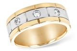 14KT Gold GENTS WEDDING RING .24 TW14KT Gold