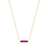 Ania Haie Bright Future Berry Enamel Bar Necklace