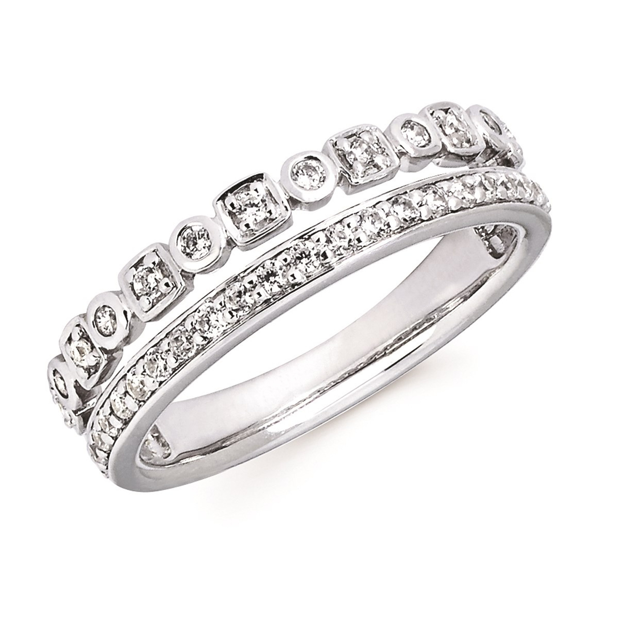 14k White Gold Stackable Diamond Rings Z S Fine Jewelry