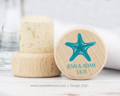 Starfish Wine Stopper Favors 021