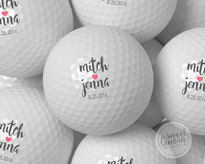 Hearts Together Personalized Golf Balls