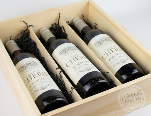 Triple Bottle Wine Keepsake Box