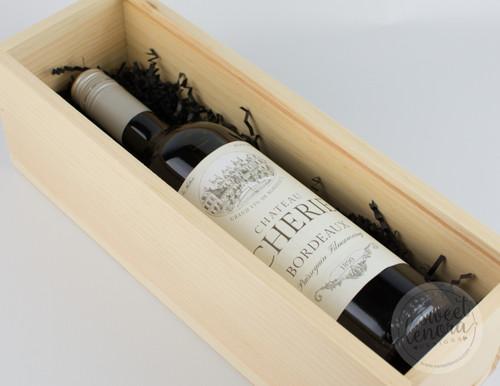 Script Logo Single Wine Keepsake Box
