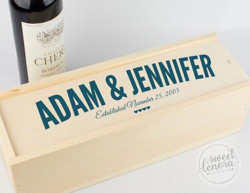 Modern Logo Single Wine Keepsake Box