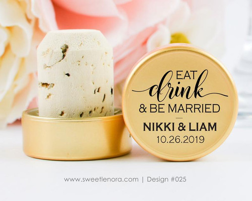 Eat Drink and Be Married Wine Stopper Favors 025