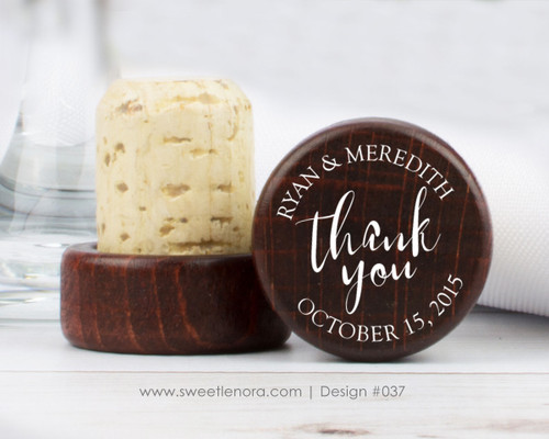 Thank You Wine Stopper Favors 037